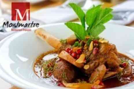 Montmartre Restaurant Francais - Two Course French Meal For Two or For Four- Save 53%