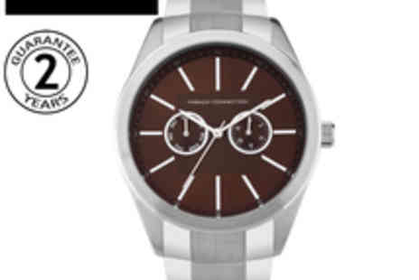 French Connection - Men's Silver Bracelet Watch - Save 68%