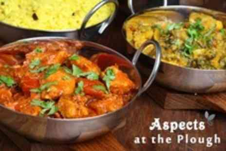 Aspects at The Plough - Two Course Indian or British Meal - Save 60%