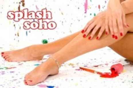 Splash Salons - Shellac Mini Manicure and Pedicure - Save 42%