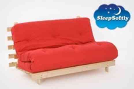 Sleep Softly - Single Futon Frame and Mattress in Choice of Colours - Save 53%