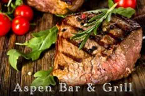 Aspen Bar and Grill - Mussels and Steak Dinner With Wine and Coffee For Two - Save 0%