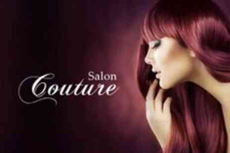 Salon Couture - Wash, Cut, Restyle, Finish and Full Head of Colour Using L Oreal INOA Ammonia - Save 57%