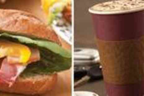 Gourmet Grub - Feast on a hot baguette and hot drink - Save 63%