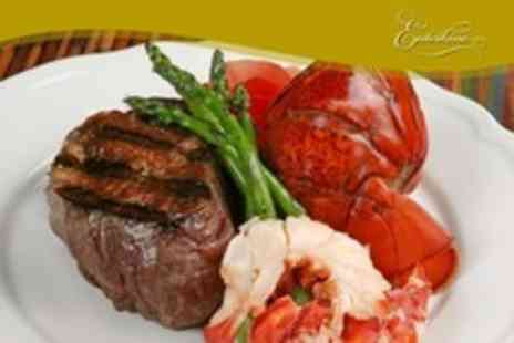 Enterkine House Hotel - Two Course Steak and Lobster Meal For Two - Save 13%