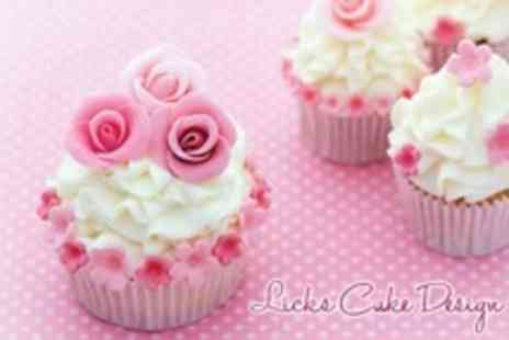 Licks Cake Designs - Small Box of Cupcakes With Chocolates - Save 60%