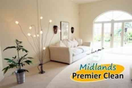 Midlands Premier Clean - Carpet Cleaning For Two Rooms Plus Hallway and Stairs - Save 74%