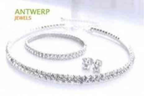 Antwerp Jewels - Swarovski  Elements Tennis Bracelet  - Save 78%
