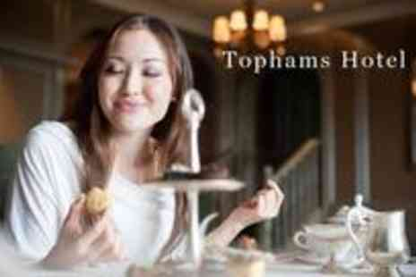 Tophams Hotel - Champagne afternoon tea for two including delicious finger sandwiches, luxury scones, assorted pastries and unlimited tea - Save 59%