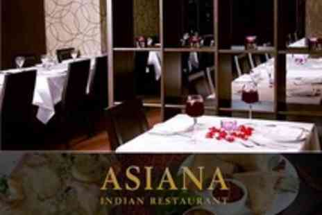 Asiana Restaurant - Two Course Indian Meal For Two - Save 57%