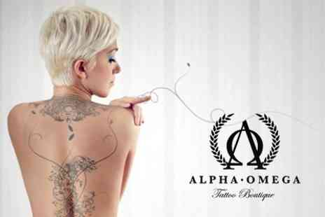 Alpha Omega Boutique - Three Sessions of Laser Tattoo Removal - Save 67%