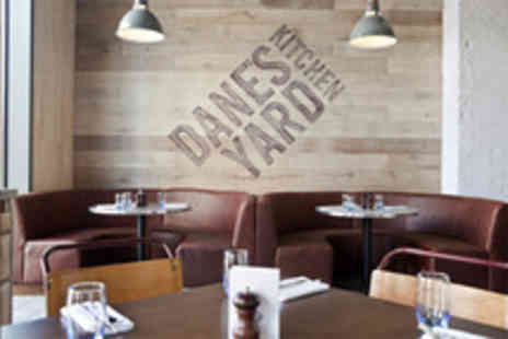 Danes Yard Kitchen - Two course meal for 2 inc a starter main side & glass of wine - Save 57%