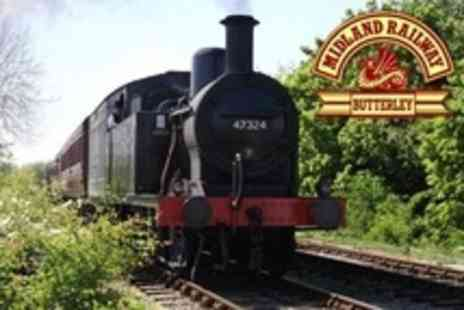 Midland Railway Centre - Family Ticket For Train Rides and Railway Attractions - Save 60%