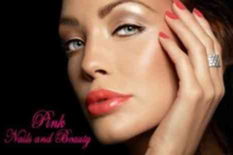 Pink Nails and Beauty - Gelish Manicure With Either Gelish Pedicure or Eyebrow Wax, Shape  - Save 34%
