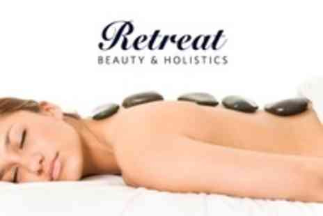 Retreat Beauty & Holistics - Pamper Package Hot Stone Massage and Facial With Manicure - Save 68%