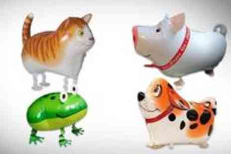 Walking Pet Balloons - Eight foil animal balloons - Save 71%