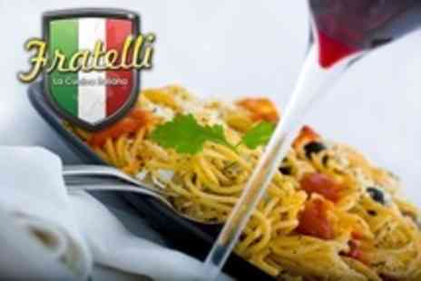 Fratelli - Two Course Italian Meal With Wine For Two - Save 52%