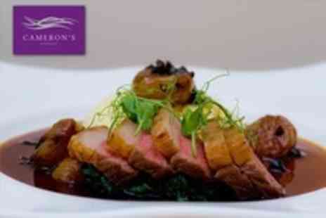Cameron's Brasserie - Modern European Lunch For Two - Save 53%