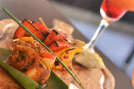 Mem-Saab Indian Fine Dine - Indian Street Food Platter for Two with Cocktails - Save 52%