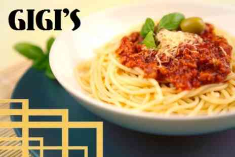 Gigi s Ristorante - Two Course Meal For Two With Glass of Wine - Save 62%