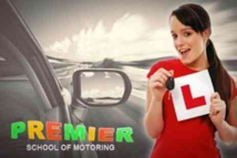 Premier School of Motoring - Five Hours Driving Lessons - Save 66%