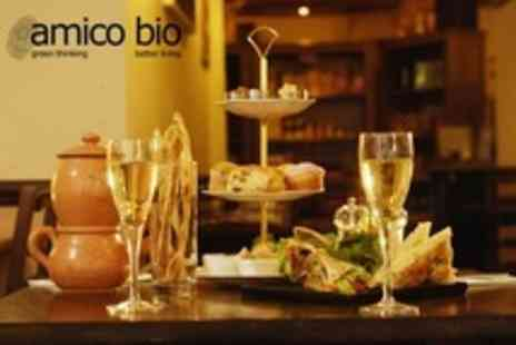 Amico Bio - Vegetarian Italian Afternoon Tea For Two With Prosecco - Save 18%