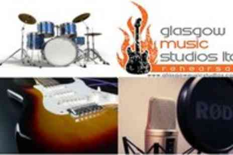Glasgow music studios - 3x One Hour Guitar, Drum, Singing or DJing Classes - Save 53%