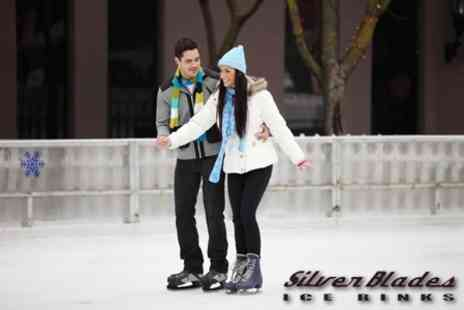 Silver Blades Ice Rink - Entry and Skate Hire For Two - Save 55%