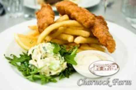 Charnock Farm Restaurant and Bar - Two Course Fish and Chips Meal for Two or Four - Save 51%