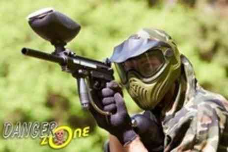 The Dangerzone - Paintballing For Three  With Lunch and 100 Paintballs Each  - Save 89%