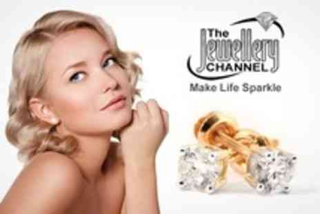 The Jewellery Channel - 14K White or Yellow Gold IGI Certified 0.500 Ct Diamond Stud Earrings - Save 50%