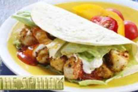 The Sphinx - Chicken Kebab With Rice, Chips or Pita Bread For Two - Save 52%