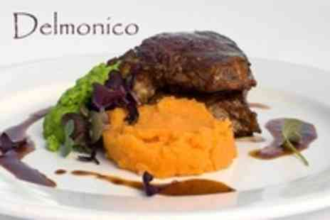 Delmonico - Two Course, High End British Meal - Save 61%