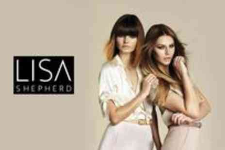 Lisa Shepherd - Celebrity inspired dip dye including a toner conditioning treatment, blast dry and glass of wine - Save 51%