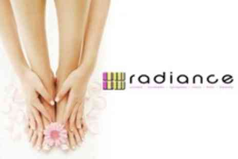 Radiance Hair and Beauty - Paraffin Wax Manicure and Pedicure With Warm Mitts - Save 64%