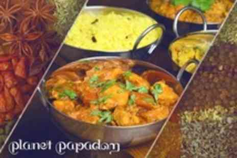 Planet Papadom - Two Course Indian Meal For Two - Save 54%
