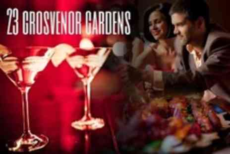 23 Grosvenor Gardens - Four Cocktails Plus Cured Meat or Cheese Platter Between Two - Save 57%
