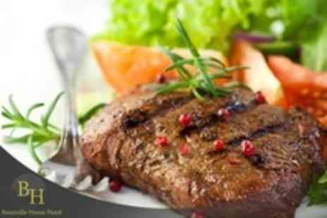 Bannville House Hotel - Two Course Steak Dinner For Two With Sides and Wine - Save 17%