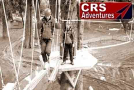 CRS Adventures - High Ropes Adventure Experience For Two or Four - Save 57%