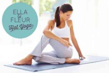 Ella and Fleur Hot Yoga - Four Sessions For One - Save 65%