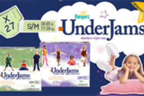 Easy Gift Products - Pack of 27 Pampers UnderJams for boys or girls - Save 64%