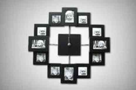 e Commerce shopping - Picture frame clock in black - Save 62%