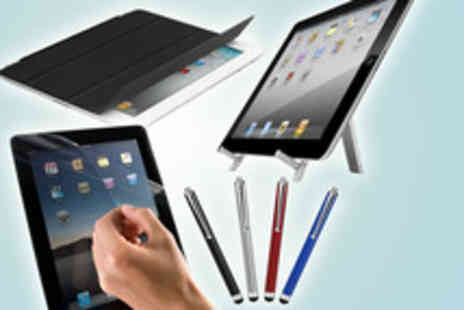 Time2 -  I Pad 2 smart accessories bundle including  a smart cover, stylus pen, foldable stand - Save 76%