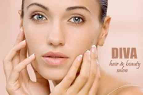 Diva Hair and Beauty Salon - One Hour Deep Cleansing Facial With Gel Manicure and Pedicure - Save 60%