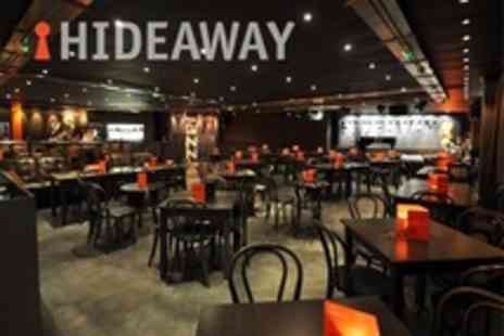 Hideaway - Jazz Night For Two With Two Course Meal and Wine - Save 62%