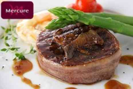 Mercure Goldthorn Hotel - Three Course British Meal and Wine For Two - Save 59%