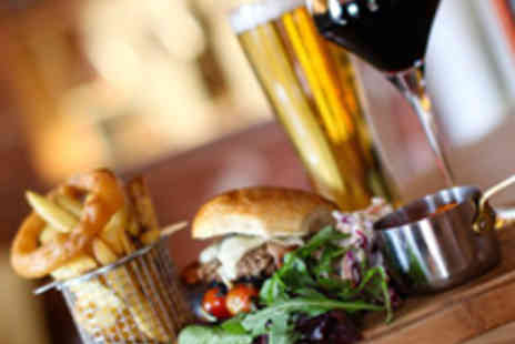 The Brooklyn - Gourmet Burger Lunch for Two with Wine or Peroni - Save 54%