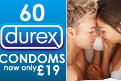 Merchtopia - Pack of 60 Durex condoms in a choice of 6 varieties - Save 62%