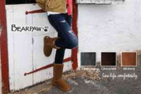 BearPaw Boots - A pair of Emma short sheepskin lined boots - Save 20%