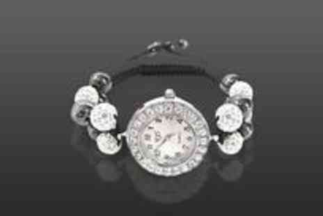 Love Crystal - Crystal encrusted double watch bracelet - Save 50%